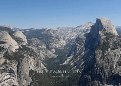 Glacier Point View of Half Dome and Tenaya Canyon, Yosemite National Park